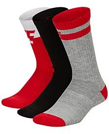 Big Boys 3-Pk. Dri-FIT Everyday Comfort Crew Socks