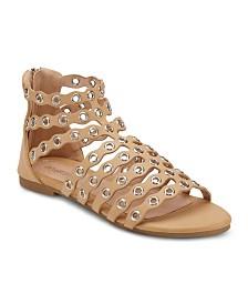 Olivia Miller Popperazzi Grommet Ankle Sandals