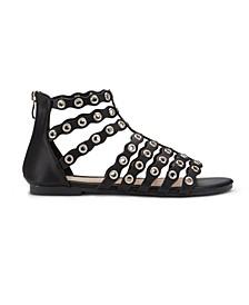 Popperazzi Grommet Ankle Sandals