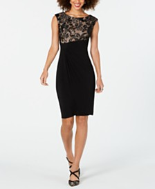 Connected Mesh Lace Dress