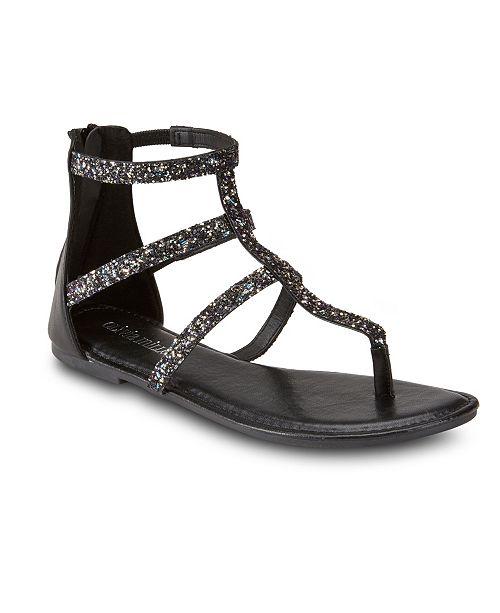 Olivia Miller Gluten Free Embellished Sandals