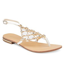 Olivia Miller Crystal Multi Rhinestone Sandals