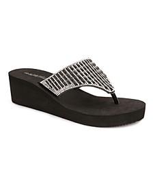 Miramar Multi Rhinestone Wedge Sandals