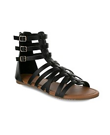 Olivia Miller Tampa Multi Strapped Gladiator Sandals