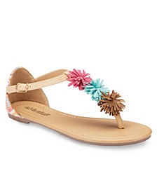 Tallahassee Fringe Pom Sandals