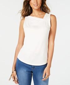Thalia Sodi Asymmetrical Embellished Top, Created for Macy's