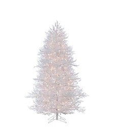 7Ft. Lightly Flocked White Twig Tree with 650 Clear Lights