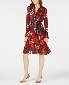Elie Tahari Brinx Printed Shirtdress