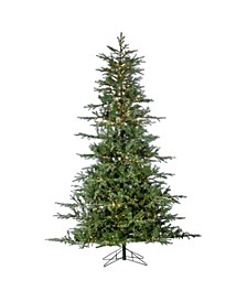 9-Foot High Pre-Lit Natural Cut Portland Pine with Instant Glow Power Pole Feature