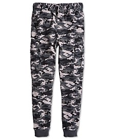 Big Boys Stretch Camouflage Twill Cargo Joggers, Created for Macy's