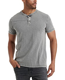 Men's Stonewashed Henley