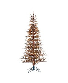 6Ft. Pre-Lit Hard Needle Brown Twig Tree with 400 Clear Light