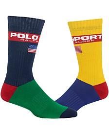 Polo Ralph Lauren Men's Colorblocked Crew Socks