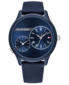 Tommy Hilfiger Women's Navy Rubber Strap Watch 38mm