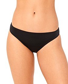 Juniors' Solid Cinched-Back Hipster Bikini Bottoms, Created for Macy's
