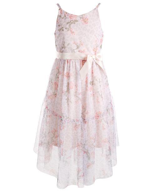 Pink & Violet Big Girls Floral-Print Dress