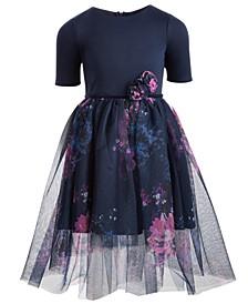 Toddler Girls Floral-Print Ballerina Dress