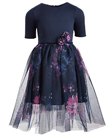 Pink & Violet Toddler Girls Floral-Print Ballerina Dress