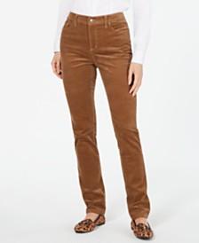 Charter Club Petite Lexington Straight-Leg Corduroy Pants, Created for Macy's