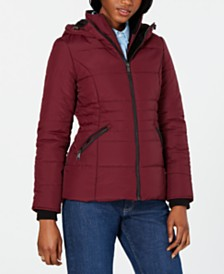 Maralyn & Me Juniors' Hooded Puffer Coat