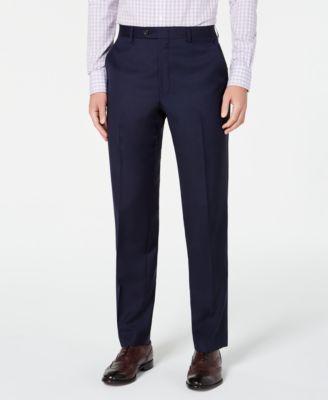 Men's Slim-Fit UltraFlex Stretch Navy Solid Suit Separate Pants