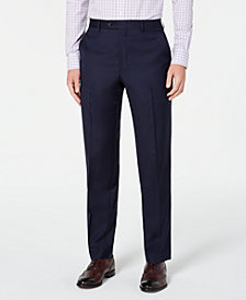 Lauren Ralph Lauren Men's Flat Front Classic-Fit UltraFlex Stretch Navy Solid Suit Separate Pants