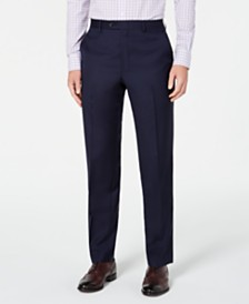 Lauren Ralph Lauren Men's Classic-Fit UltraFlex Stretch Navy Solid Suit Separate Pants