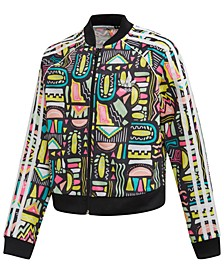 Big Girls Cropped Printed Track Jacket