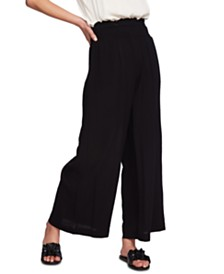 1.STATE Smocked Waist Super Wide Leg Pants