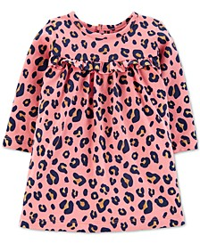 Baby Girls Leopard-Print Cotton Dress