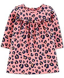 Baby Girls Leopard-Print Cotton Dress