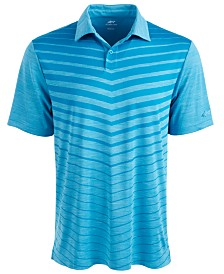 Attack Life by Greg Norman Men's Ombré Chevron Jacquard Polo