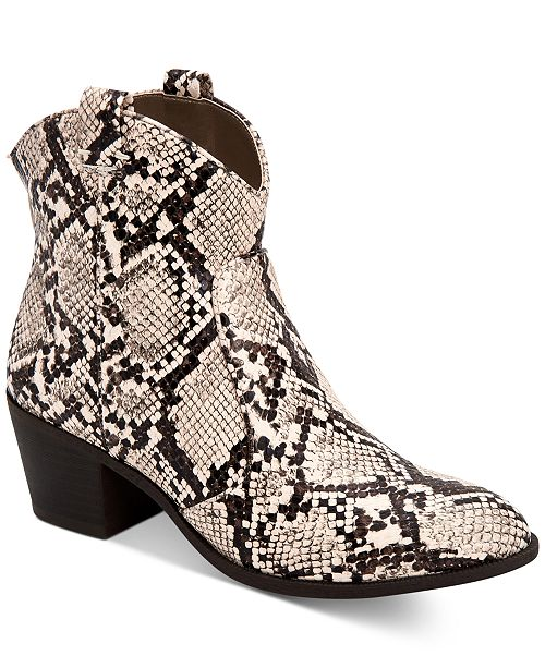 Style & Co MyKenna Western Ankle Booties, Created for Macy's