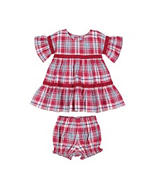 Masala Baby Girl Avery Two Piece Set Plaid