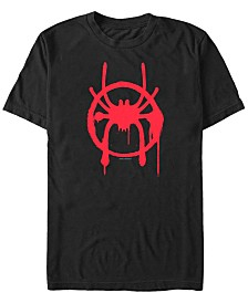 Marvel Men's Spider-Man Into The Spiderverse Miles Symbol Tag Short Sleeve T-Shirt