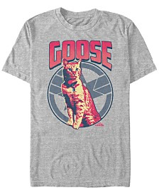 Marvel Men's Captain Marvel Goose The Cat Short Sleeve T-Shirt
