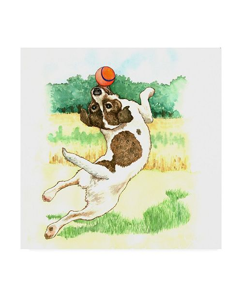 """Trademark Global Wendy Edelson Jack Russell Dog Canvas Art - 19.5"""" x 26"""""""
