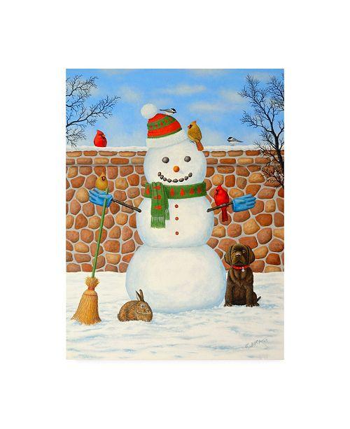 "Trademark Global Robert Wavra Snowman and Wildlife Canvas Art - 36.5"" x 48"""