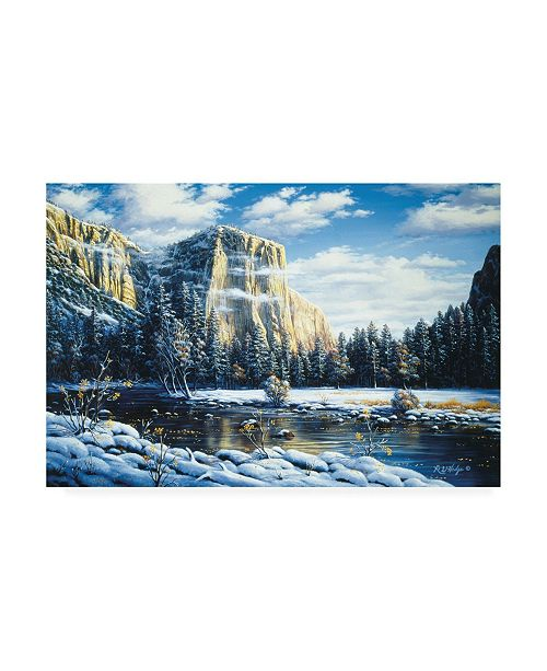 "Trademark Global R W Hedge Quiet Time Mountain Canvas Art - 27"" x 33.5"""