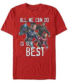 Marvel Men's Avengers Endgame Do Our Best Short Sleeve T-Shirt