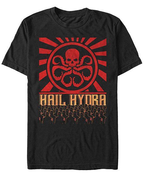 Marvel Men's Comic Collection Hail Hydra Propaganda Short Sleeve T-Shirt