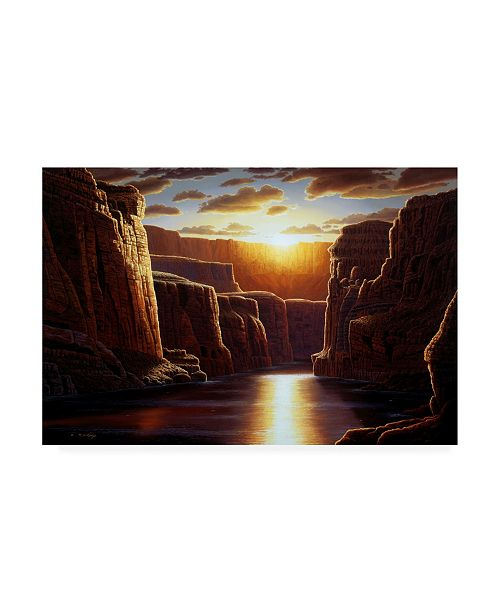 "Trademark Global R W Hedge Grand Sunrise Canvas Art - 15.5"" x 21"""
