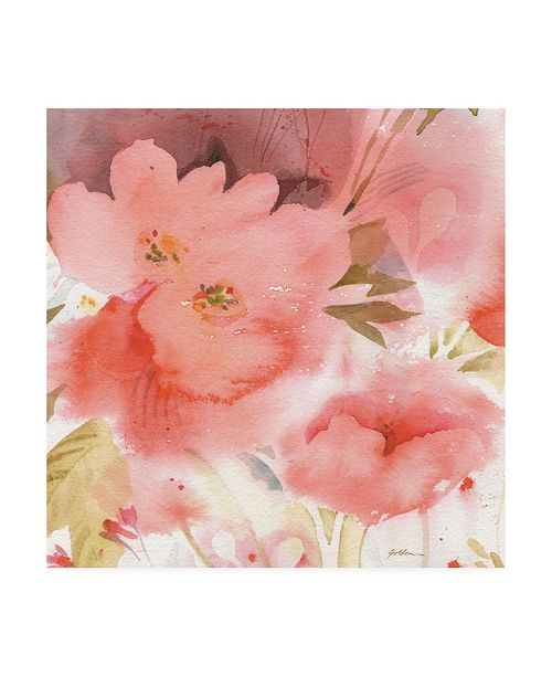 "Trademark Global Sheila Golden Coral Fusion 2 Canvas Art - 19.5"" x 26"""