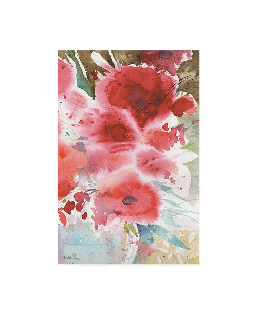 "Trademark Global Sheila Golden Symphony of Red Canvas Art - 27"" x 33.5"""