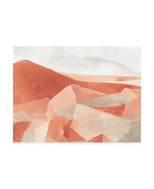 "Trademark Global June Erica Vess Desert Valley I Canvas Art - 36.5"" x 48"""