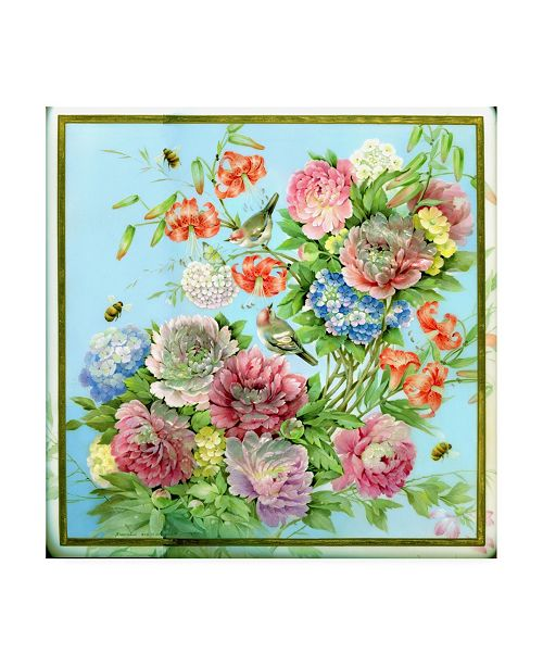 "Trademark Global Tania Fedorova Mid-Century Floral Pink Canvas Art - 19.5"" x 26"""