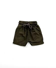 Toddler Boy Mineral Wash Jogger Shorts