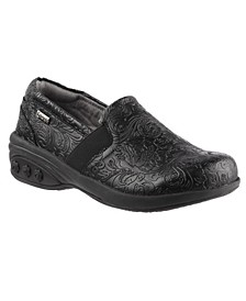 Shoe Annie Slip Resistant Leather Slip On