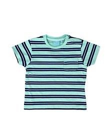 Big and Little Boy Striped Short Sleeve Tee