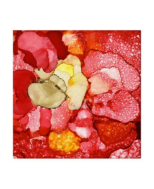 """Trademark Global Pat Saunders-White Red Bubbles Canvas Art - 15.5"""" x 21"""""""